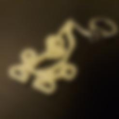 banana_keychain.stl Télécharger fichier STL gratuit Porte-clé banane • Design à imprimer en 3D, M3Dr
