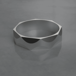 Download free STL file Hammered iron ring • Object to 3D print, M3Dr