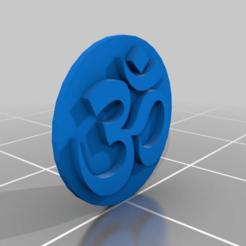Download free STL file Om symbol keychain • 3D printable object, M3Dr