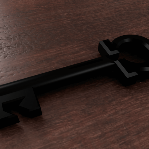 Download free 3D printing templates Omega key, M3Dr