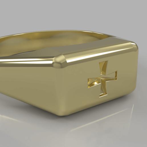 Bague des templiers.png Télécharger fichier STL gratuit Bague de templier • Objet à imprimer en 3D, M3Dr