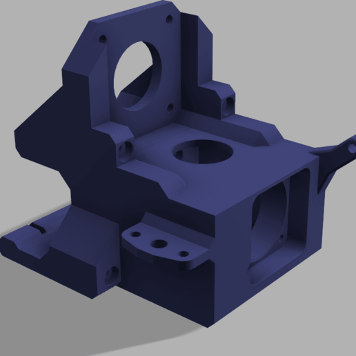 UltiDrive v17 v3.png Télécharger fichier STL gratuit Monture UtiDrive - Monture BMG DirectDrive pour rail linéaire avec Volcan E3Dv6 • Modèle pour impression 3D, P3PS0N
