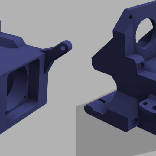 UltiDrive v17 v2.png Télécharger fichier STL gratuit Monture UtiDrive - Monture BMG DirectDrive pour rail linéaire avec Volcan E3Dv6 • Modèle pour impression 3D, P3PS0N