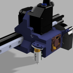 Download free STL file UtiDrive Mount - BMG DirectDrive mount for linear rail with E3Dv6 Volcano • 3D printable object, P3PS0N