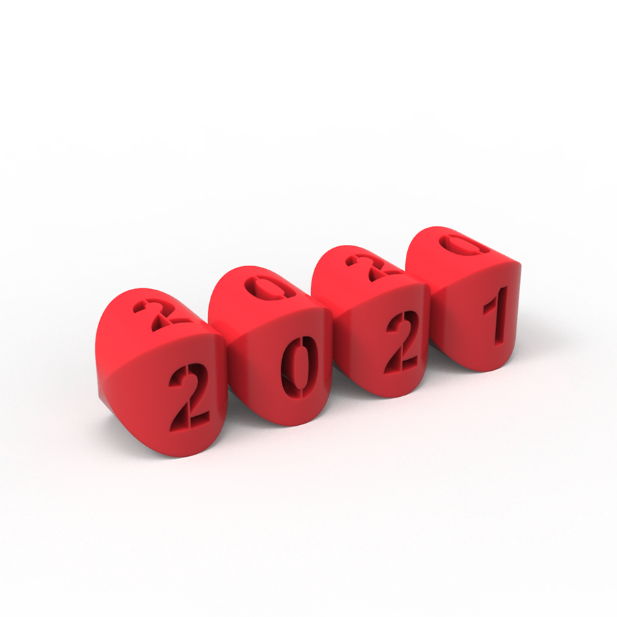 2021.269.png Download free STL file 2020 - 2021 Flipped text Balls • 3D printable template, ro3dstudio