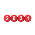 2021.268.png Download free STL file 2020 - 2021 Flipped text Balls • 3D printable template, ro3dstudio