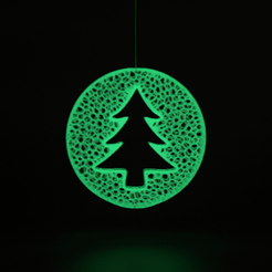 voronoi1.png Download free STL file Christmas ball with tree - voronoi • Template to 3D print, ro3dstudio
