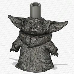 Télécharger fichier impression 3D Bébé Yoda shisha, porte-parole, antobascu98