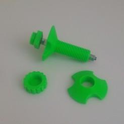 Télécharger plan imprimante 3D gatuit Albero porta bobina Ender 3 e Ender 3 Pro - Reel holder shaft for Ender 3 and Ender 3 Pro, modulo3d
