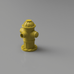 FireHydrant v1.png Download STL file Fire Hydrant model prop for Dioramas and Tabletop • Object to 3D print, The3Dprinting