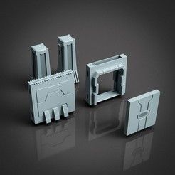 Download STL file Modular wall for Tabletop and dioramas • 3D print design, The3Dprinting