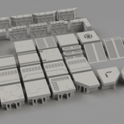 Download STL file Modular platforms - V1.0 for Dioramas and Tabletop games  • 3D printing template, The3Dprinting
