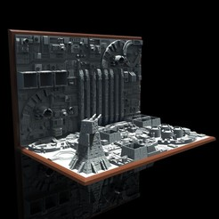 StarWarsMultiMaterial.jpg Télécharger fichier STL Diorama de la tranchée • Design pour impression 3D, The3Dprinting