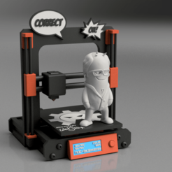 Download free STL file Micro Printer Diorama for Mini Dude by Wekster - Figurine not included • 3D printer object, The3Dprinting