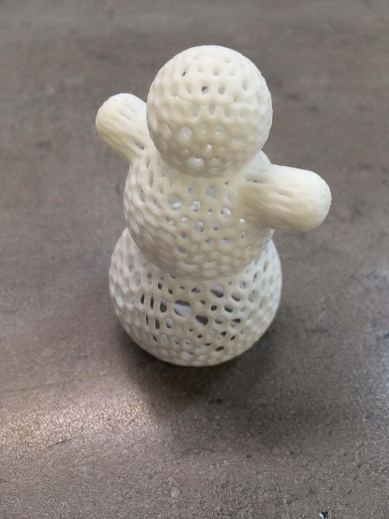 snowman.JPG Descargar archivo STL gratis Muñeco de Nieve - Impresión fácil de Voronoi • Objeto imprimible en 3D, Nosekdesign