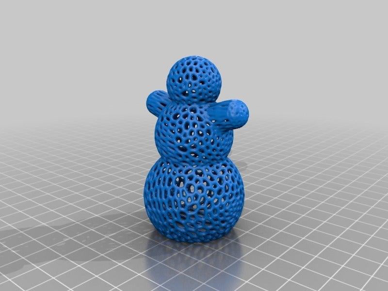 b95cc65c11cab07212be063ed6ffa645.png Descargar archivo STL gratis Muñeco de Nieve - Impresión fácil de Voronoi • Objeto imprimible en 3D, Nosekdesign