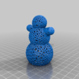 Download free STL file Snowman - Easy Voronoi printing • 3D printing object, Nosekdesign