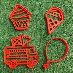 nieve.jpg Download free STL file Ice Cream Cookies cutter set • 3D printer model, icepro10