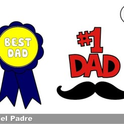 Download free STL file Fathers Day Cookie Cutters • 3D printing design, icepro10
