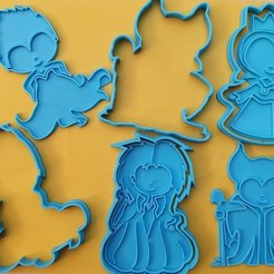 Download 3D printer designs SET OF 4 DISNEY VILLAINS COOKIE CUTTERS, icepro10