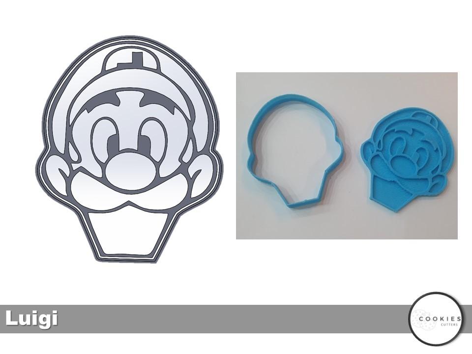 Slide12.JPG Télécharger fichier STL gratuit Coupe-biscuits LUIGI • Plan pour imprimante 3D, icepro10