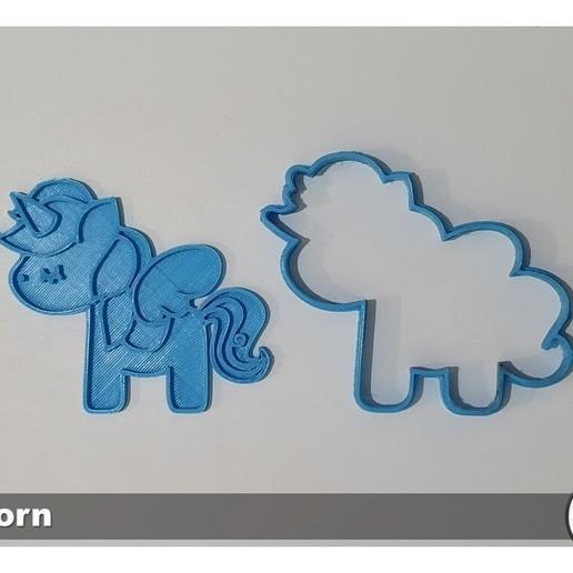 Slide11.JPG Télécharger fichier STL gratuit KIT de 5 moules à biscuits Unicorn • Modèle imprimable en 3D, icepro10
