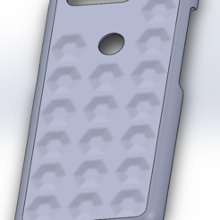 Back Side indents.PNG Download 3MF file OnePlus 5T Hexagonal Indents Case • Object to 3D print, MrCrashy31