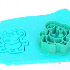 MOLDES-FAMILIA-PEPPA-PIG-01.png Download STL file GEORGE PIG - COOKIE CUTTER • 3D printer template, Z3D