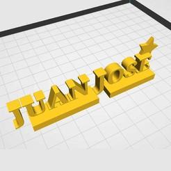 juanjose1.jpg Download STL file NAME: JUAN JOSE (STAR) • 3D print design, Z3D