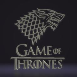 Télécharger plan imprimante 3D gatuit Logo du jeu des trônes - GOT, wor000