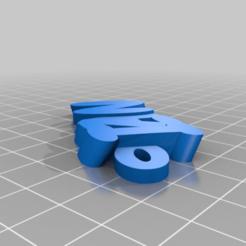 Télécharger fichier impression 3D gratuit llavero IZAN, maxine95