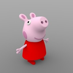 Download STL file Peppa pig • Template to 3D print, AngryMaker3D