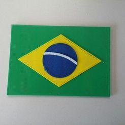 Télécharger objet 3D gratuit Le drapeau du Brésil #Printyourflag, AngryMaker3D
