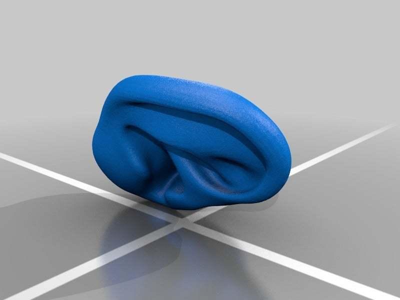 Ears_half.jpg Download free STL file Earphone Tyde • 3D printer object, AngryMaker3D