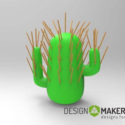 Download free STL file Cactus toothpick • Model to 3D print, AngryMaker3D