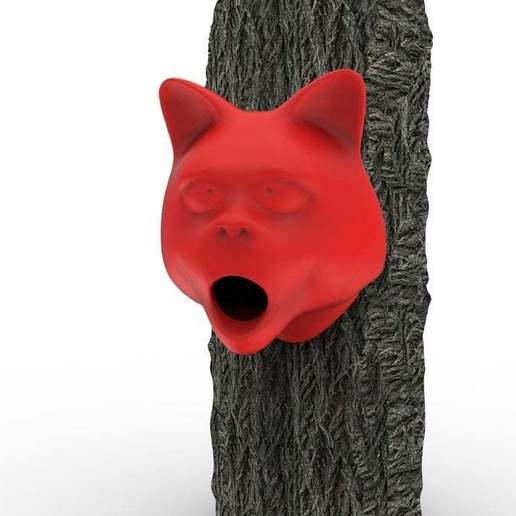 Download free OBJ file Cat Birdhouse • 3D print design, AngryMaker3D