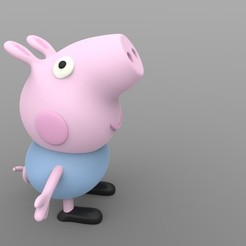 Download STL file George Pig (Peppa pig) • 3D printable design, AngryMaker3D