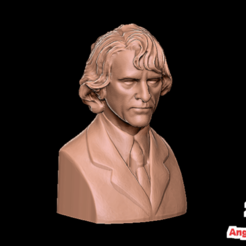 Download free STL file Joaquin Phoenix The Joker • 3D print template, AngryMaker3D