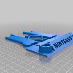 Télécharger fichier STL gratuit Support pour manette Nintendo 64 (Easy Print) • Plan imprimable en 3D, AngryMaker3D