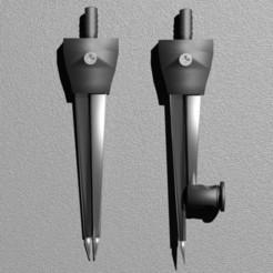 compass and divider 1.jpg Download STL file compass and divider • 3D printing template, prathameshkadam