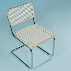cesca side cosa chair .jpg Download STL file cesca side cosa chair  • 3D printer model, prathameshkadam
