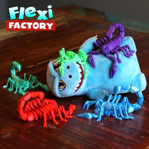 Scorpion_05.jpg Download STL file Flexi Print-In-Place Scorpion • 3D printer object, FlexiFactory