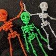 Impresiones 3D Lindo esqueleto flexible de impresión en el lugar, dsopala
