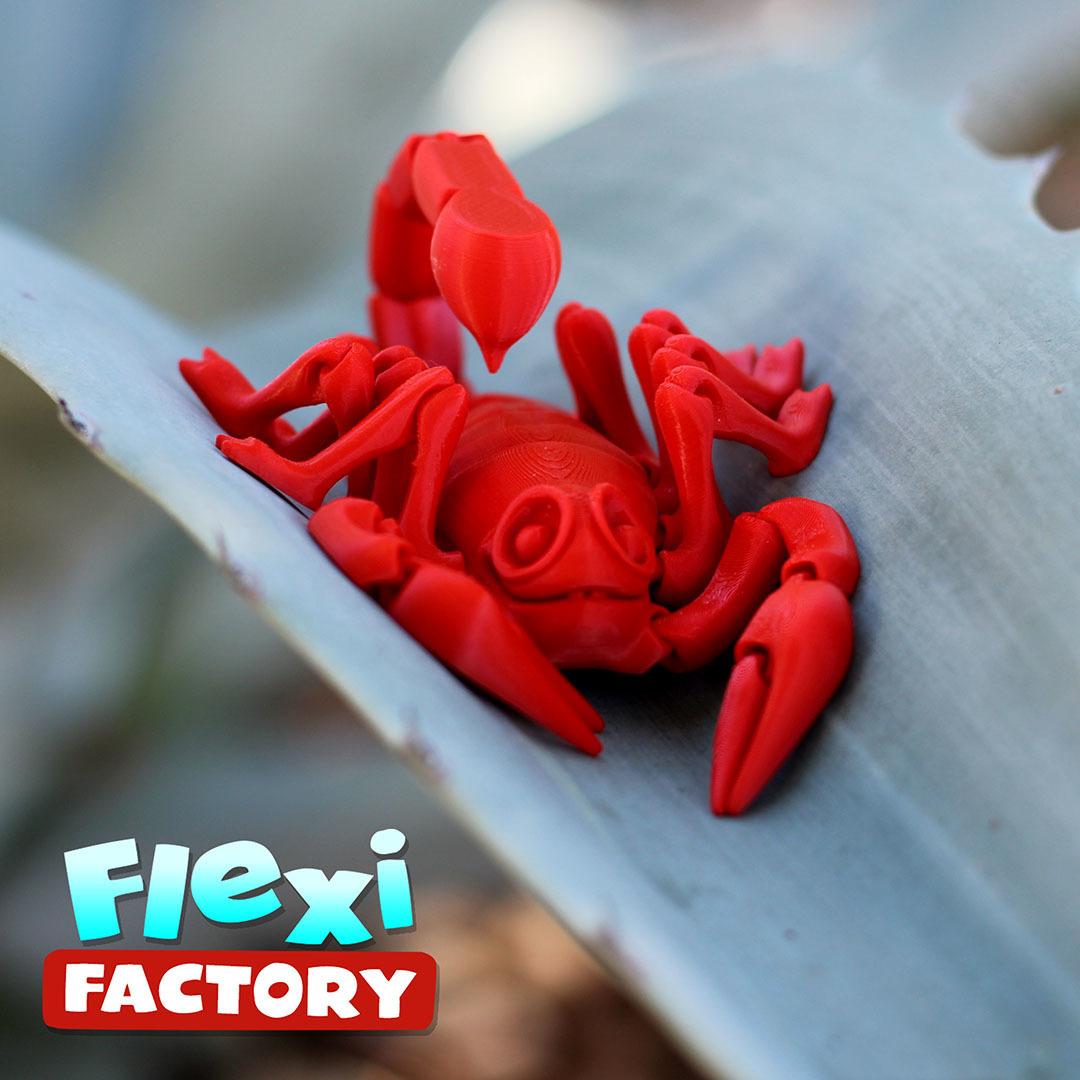 Scorpion_14.jpg Download STL file Flexi Print-In-Place Scorpion • 3D printer object, FlexiFactory
