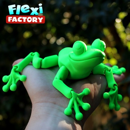 Frog_06.jpg Download STL file Cute Flexi Print-in-Place Frog • Template to 3D print, FlexiFactory