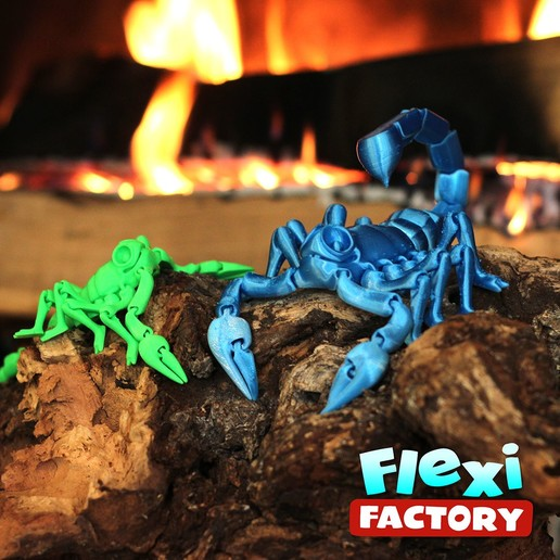 Scorpion_07.jpg Download STL file Flexi Print-In-Place Scorpion • 3D printer object, FlexiFactory