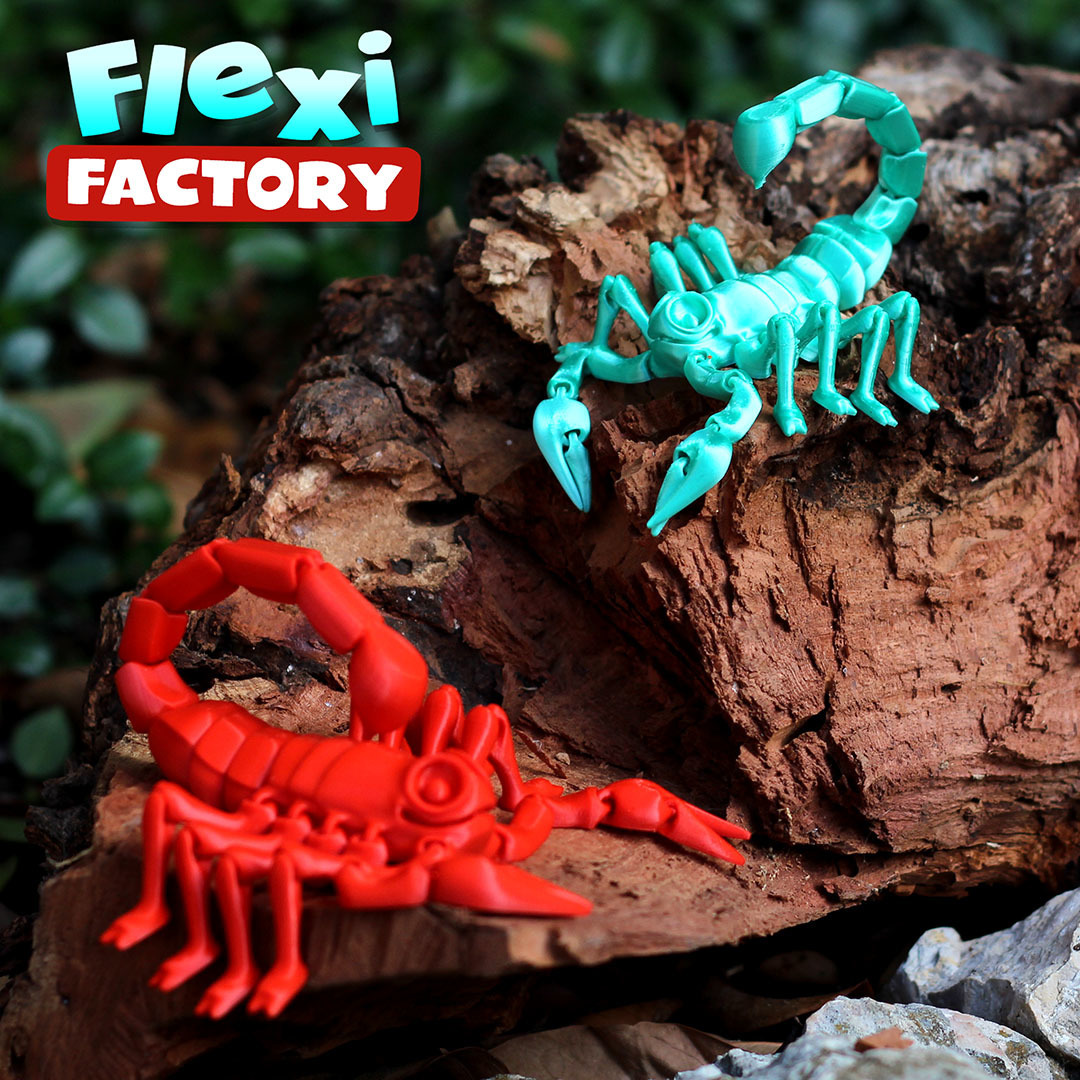Scorpion_08.jpg Download STL file Flexi Print-In-Place Scorpion • 3D printer object, FlexiFactory
