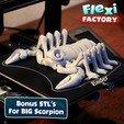 BiG_Scorpion01.jpg Download STL file Flexi Print-In-Place Scorpion • 3D printer object, FlexiFactory