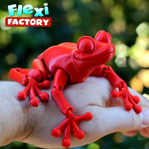 Frog_05.jpg Download STL file Cute Flexi Print-in-Place Frog • Template to 3D print, FlexiFactory