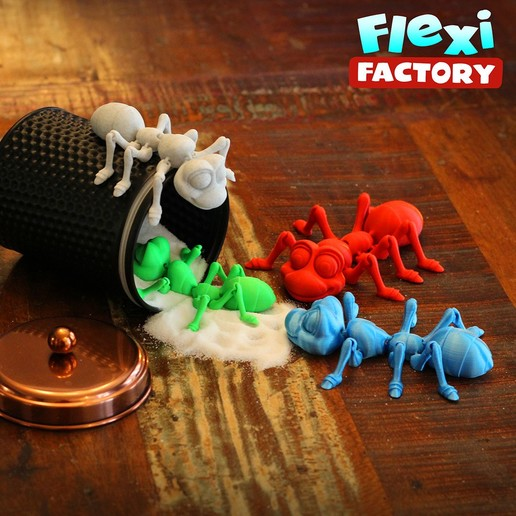 Ant12.jpg Download STL file Cute Flexi Print-in-Place Ant • 3D printing design, FlexiFactory